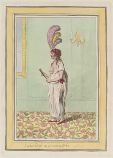 'Ladies dress, as it soon will be', by James Gillray, published by  Hannah Humphrey - NPG D13020