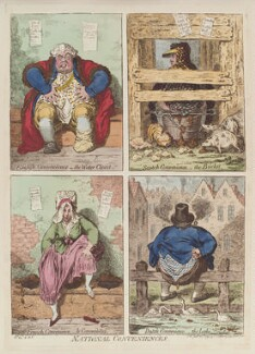 'National conveniences', by James Gillray, published by  Hannah Humphrey - NPG D13021