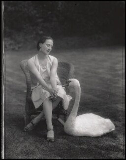 Anna Pavlova with 'Jack', by Lafayette - NPG x49321