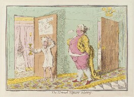 'The grand-signor retiring', by James Gillray, published by  Hannah Humphrey, published 25 May 1796 - NPG D13024 - © National Portrait Gallery, London