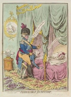 'Fashionable-jockeyship', by James Gillray, published by  Hannah Humphrey, published 1 June 1796 - NPG D13025 - © National Portrait Gallery, London