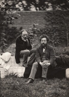 Sir Edward Coley Burne-Jones, 1st Bt; William Morris, by Frederick Hollyer - NPG x3763