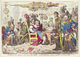 'French generals retiring, on account of their health: - with Lepaux presiding in the directorial dispensary', by James Gillray, published by  Hannah Humphrey, published 20 June 1799 - NPG D13031 - © National Portrait Gallery, London