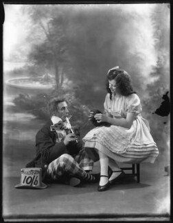 Charles Hayden Coffin as The Mad Hatter; Phyllis Griffiths as Alice in 'Alice in Wonderland' at the Garrick Theatre, by Bassano Ltd - NPG x121239