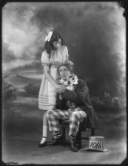 Phyllis Griffiths as Alice; Charles Hayden Coffin as The Mad Hatter in 'Alice in Wonderland' at the Garrick Theatre, by Bassano Ltd - NPG x121240