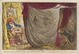 'Ci-devant occupations - or - Madame Talian and the Empress Josephine dancing naked before Barrass in the Winter of 1797 - a fact! -', by James Gillray, published by  Hannah Humphrey, published 20 February 1805 - NPG  - © National Portrait Gallery, London