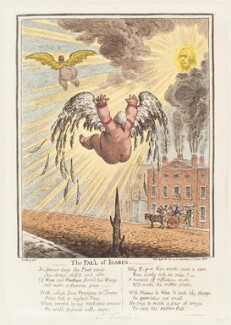 'The fall of Icarus', by James Gillray, published by  Hannah Humphrey - NPG D13044