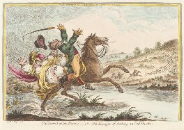 'The sound of the horn! - or - the danger of riding an old-hunter', by James Gillray, published by  Hannah Humphrey, published 1 December 1807 - NPG  - © National Portrait Gallery, London