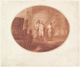 'Col. Gardiner's last interview with his wife and daughter', by James Gillray, published by  Robert Wilkinson - NPG D13050