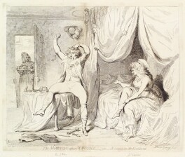 'The morning after marriage - or - a scene on the Continent' (King George IV; Maria Anne Fitzherbert (née Smythe)), by James Gillray, published by  William Holland, published 5 April 1786 - NPG D13051 - © National Portrait Gallery, London