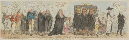'The funeral procession of Miss Regency', by James Gillray, published by  Samuel William Fores, published 29 April 1789 - NPG D13053 - © National Portrait Gallery, London