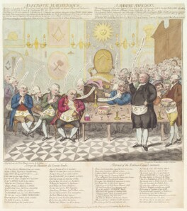 Alessandro, Count of Cagliostro (Giuseppe Balsamo) ('A Masonic anecdote'), by James Gillray, published by  Hannah Humphrey - NPG D13056