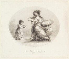 'The happy mother', by James Gillray, published by  Susannah Vivares, after  Lavinia Spencer (née Bingham), Countess Spencer - NPG D13058