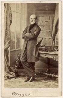 Giuseppe Mazzini, by Caldesi, Blanford & Co - NPG x20597