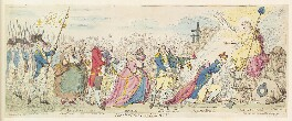 'The offering to liberty', by James Gillray, published by  James Aitken - NPG D13070