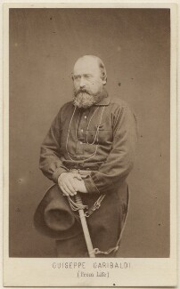 Unknown man, called Giuseppe Garibaldi, by Z. Bioni - NPG Ax16270