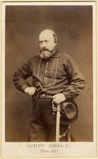 Unknown man, called Giuseppe Garibaldi, by Z. Bioni - NPG x5106