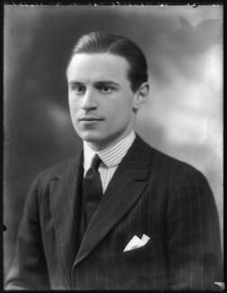 Sir Neville Arthur Pearson, 2nd Bt, by Bassano Ltd - NPG x121335