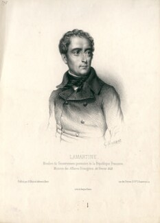 Alphonse Marie Louise Prat de Lamartine, by G. Houser - NPG D13239