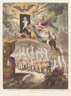 'Titianus Redivivus; - or - the seven-wise-men consulting the new Venetian oracle', by James Gillray, published by  Hannah Humphrey, published 2 November 1797 - NPG D13085 - © National Portrait Gallery, London
