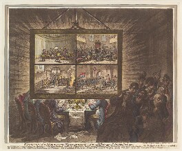 'Exhibition of a democratic-transparency, - with its effect upon patriotic feelings', by James Gillray, published by  Hannah Humphrey - NPG D13096