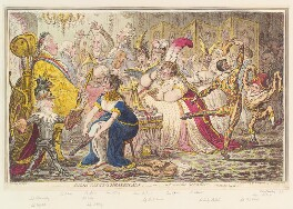 'Dilettanti-theatricals: - or - a peep at the green room', by James Gillray, published by  Hannah Humphrey - NPG D13099