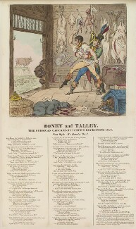'Boney and Talley' (Napoléon Bonaparte; Charles Maurice de Talleyrand-Périgord, Prince de Benevento), by James Gillray, published by  Hannah Humphrey - NPG D13101