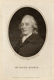 Roger Kemble, by William Ridley, published by  Bellamy and Robarts, after  Thomas Beach - NPG D13241