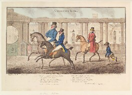 'A morning ride' (King George IV; Sir John McMahon, 1st Bt), by James Gillray, published by  Hannah Humphrey, published 25 February 1804 - NPG  - © National Portrait Gallery, London