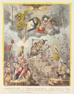 storming Heaven; - with, the gods alarmed for their everlasting-abodes', by James Gillray, published by  Hannah Humphrey, published 1 May 1804 - NPG D13106 - © National Portrait Gallery, London