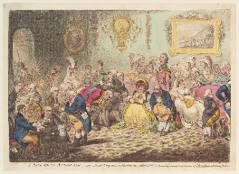 'L'assemblée nationale: - or - grand cooperation meeting at St Ann's Hill', by James Gillray, published by  Hannah Humphrey - NPG D13107