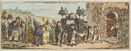 'The funeral procession of Broad-bottom', by James Gillray, published by  Hannah Humphrey - NPG D13114