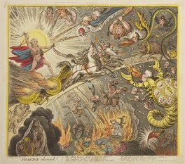 'Phaeton alarm'd!', by James Gillray, published by  Hannah Humphrey - NPG D13115