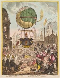 'Tentanda via est qua me quoque possim tollere humo', by James Gillray, published by  Hannah Humphrey, published 8 August 1810 - NPG D13118 - © National Portrait Gallery, London