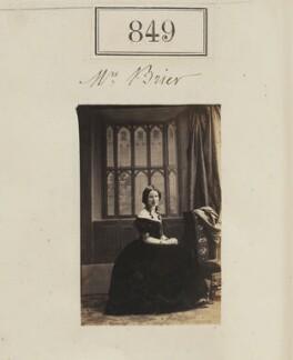 Mrs Brier, by Camille Silvy - NPG Ax50451