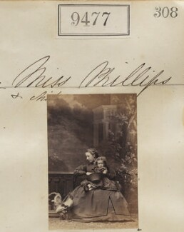 Miss Phillips and an unknown child, by Camille Silvy - NPG Ax59284
