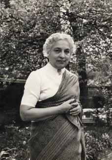 Vijaya Lakshmi Pandit (née Sarup Kumari Nehru), by Ida Kar - NPG x125515