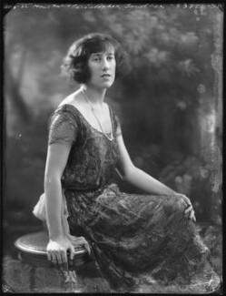 Hon. Dorothy Lowther (née Bromley-Davenport), by Bassano Ltd - NPG x121513