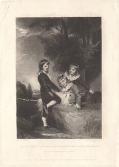 Thomas Philip de Grey, 2nd Earl de Grey; Frederick John Robinson, 1st Earl of Ripon; Philip Robinson, by Samuel William Reynolds, published by  Hodgson, Boys & Graves, sold by  Sir Francis Graham Moon, 1st Bt, after  Sir Joshua Reynolds - NPG D4034
