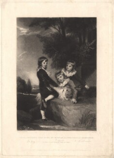 Thomas Philip de Grey, 2nd Earl de Grey; Frederick John Robinson, 1st Earl of Ripon; Philip Robinson, by Samuel William Reynolds, published by  Hodgson, Boys & Graves, sold by  Sir Francis Graham Moon, 1st Bt, after  Sir Joshua Reynolds - NPG D4046
