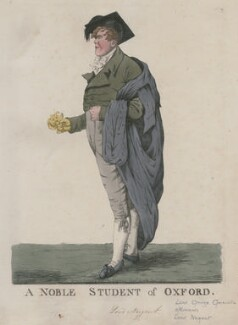George Nugent Grenville, Baron Nugent ('A noble student of Oxford'), by and published by Robert Dighton - NPG D13282