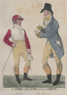 'A hero of the turf & his agent' (Frank Buckle; Henry Francis Mellish), by and published by Robert Dighton - NPG D13306