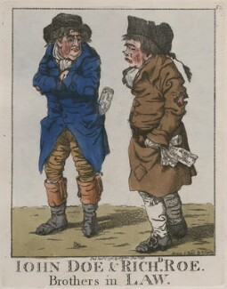 'John Doe & Richd Roe. Brothers in law', by and published by Robert Dighton - NPG D13307