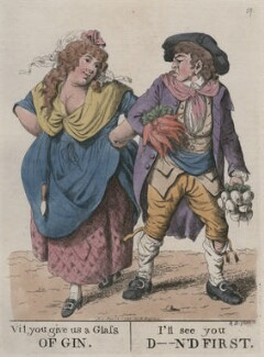 'Vil you give us a glass of gin. I'll see you d--n'd first', by and published by Robert Dighton - NPG D13312