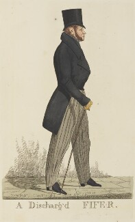 James Duff, 4th Earl of Fife ('A Discharg'd Fife-r'), by and published by Richard Dighton, reissued by  Thomas McLean, published 25 April 1821 - NPG D13326 - © National Portrait Gallery, London