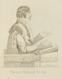 Edward Irving, by and published by Richard Dighton - NPG D13334