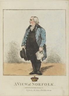 Charles Howard, 11th Duke of Norfolk ('A view of Norfolk'), by and published by Robert Dighton - NPG D13341