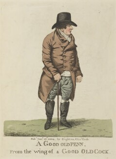 John Penn ('A good old Penn, from the wing of a good old cock'), by and published by Robert Dighton - NPG D13343