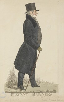 Charles Manners Sutton, 1st Viscount Canterbury ('Elegant manners'), by and published by Richard Dighton, published 1821 - NPG D13347 - © National Portrait Gallery, London