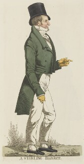 Sir Walter George Stirling ('A stirling banker'), by and published by Richard Dighton - NPG D13350